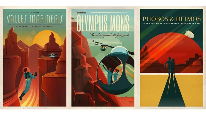Stunning Retro Space Travel Posters Amp Journals By Nasa By