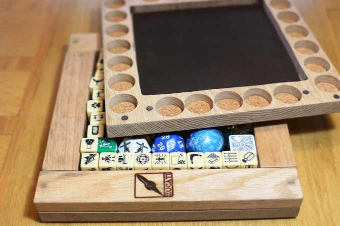 Store your dice horde and still have room to play and organize at the same time