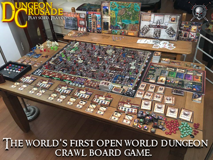Welcome to Dungeon Crusade! 1 of 4 gameworlds being shown