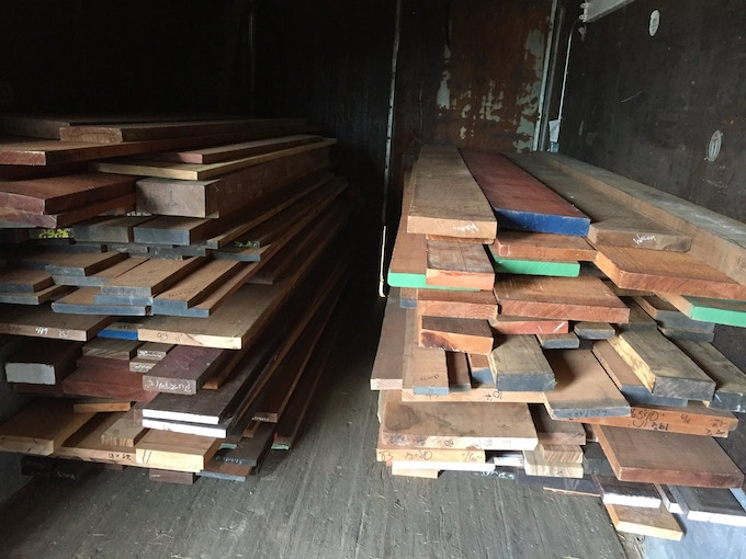 Some of our Exotic Hardwoods