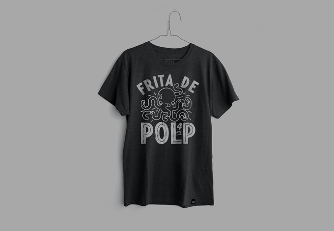 Camiseta triblend 135gr  Hombre. Color carbón negro.