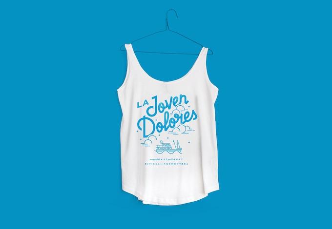 Camiseta tirantes holgada 125gr Mujer. 100% algodón.