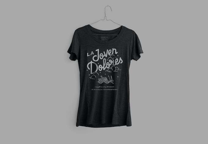Camiseta triblend 135gr  Mujer. Color carbón negro.