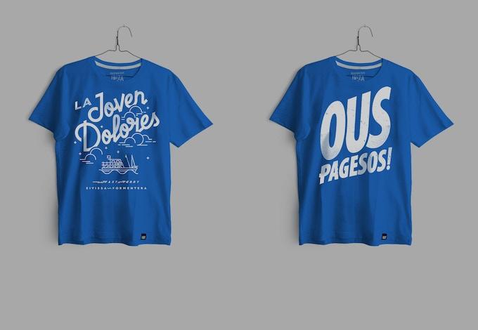 Camiseta super suave 150gr Niño/a. 100% algodón. Colbalt Blue.