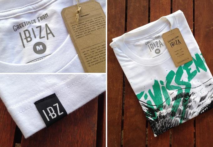 Detalles de los acabados de las camisetas. La etiqueta inferior solo se aplicará a los modelos de hombre y niños/as.
