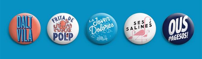 Estos son los 5 diseños de chapas para la recompensa 02.