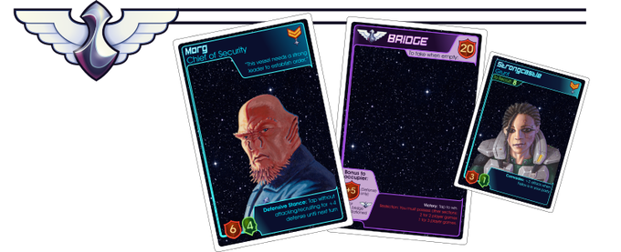 Example leader, section, and crew cards (prototype)