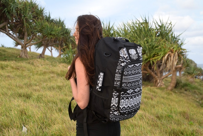 Adventuring with the carry-on Geometric Explorer Travel Pack