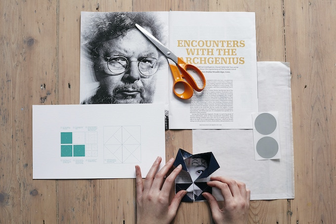 Using magazines with the 'Fold your face' instruction pack