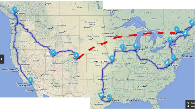 One *possible* tour route for this fall!