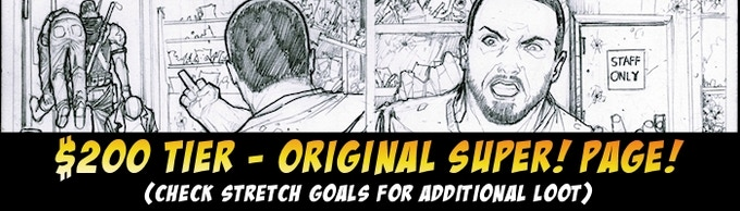 Click or scroll for an original page.  You can ADD ON additional ORIGINAL PAGES to any pledge for $150.  Original cover pages can be added on for $300.