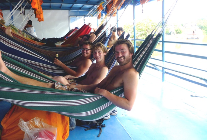I spent 3 nights in a hammock aboard a cargo boat on the Amazon River with friends in 2010.
