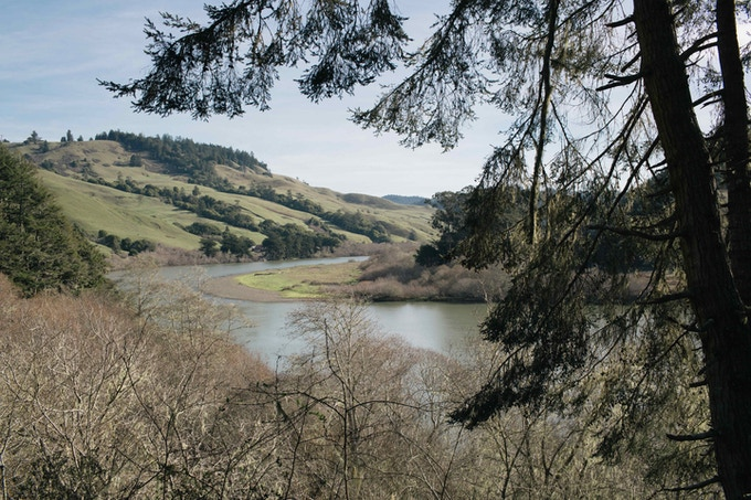 The beautiful Russian River stretches for miles and miles.