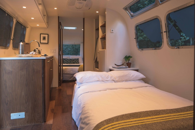 Each Airstream comfortably sleeps up to four people – so the whole family can enjoy AutoCamp!