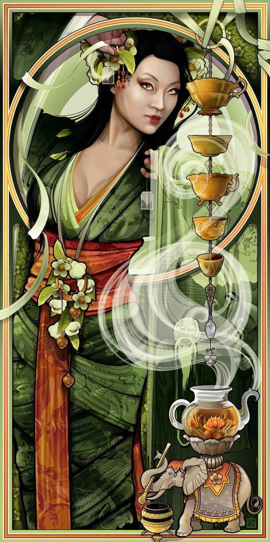 Goddess of Tea by Echo Chernik