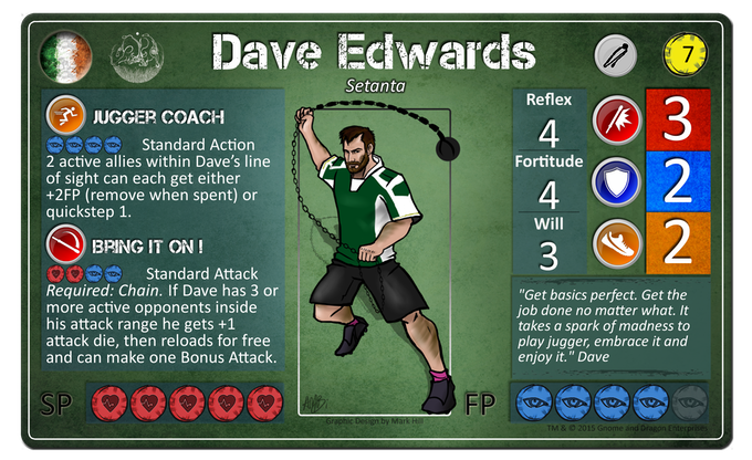 Dave Edwards from the Irish Jugger team, Setanta.