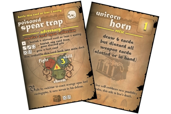 Ravingspire Boardgame Adversary and Loot Card