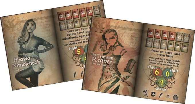 Ravingspire Boardgame Character Cards