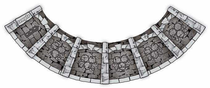 Ravingspire Boardgame Encounter Ring - Temple