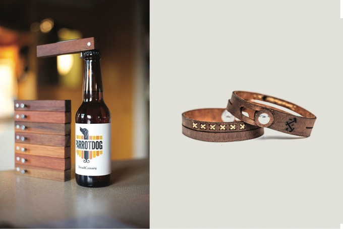 Jude Raffills bottle openers and The Loyal Workshop bracelets