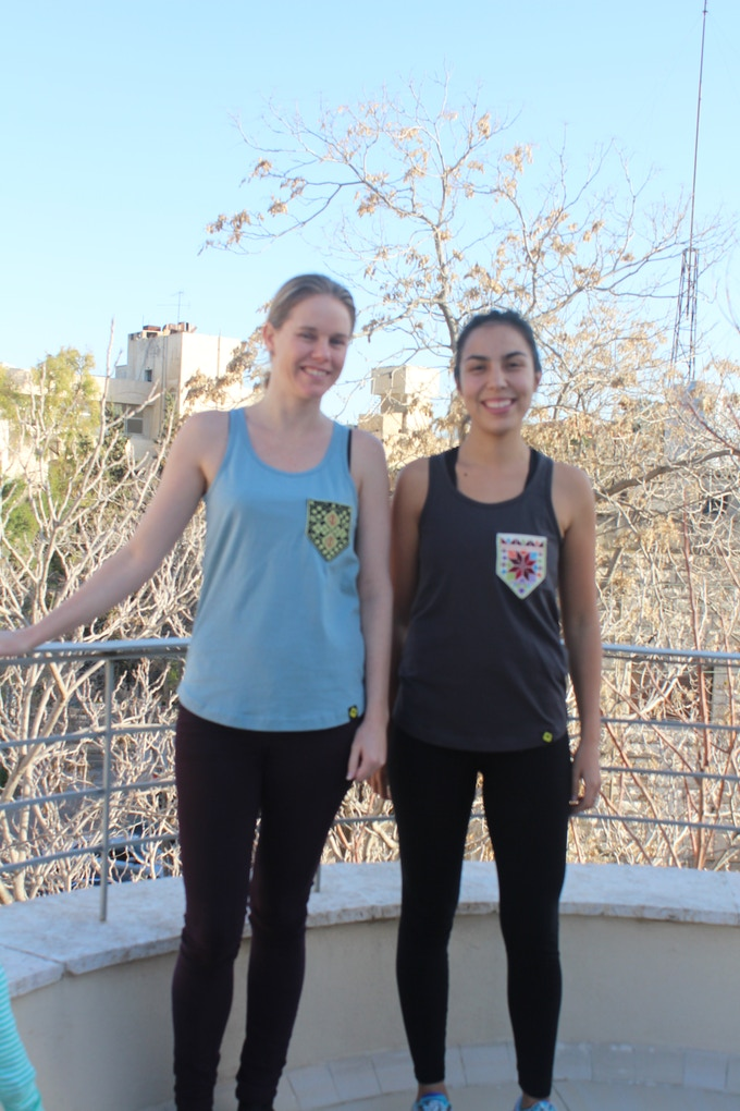 Our Amman friends enjoying the sun in their tasty racerback tank tops