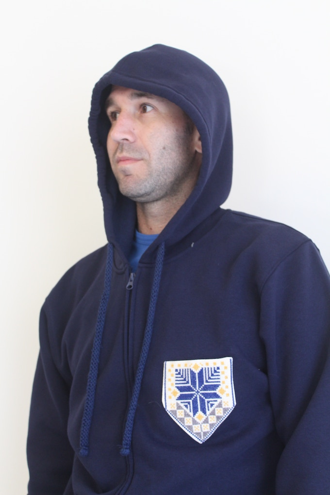 Our unisex zip-up hoodies are mighty comfy and warm