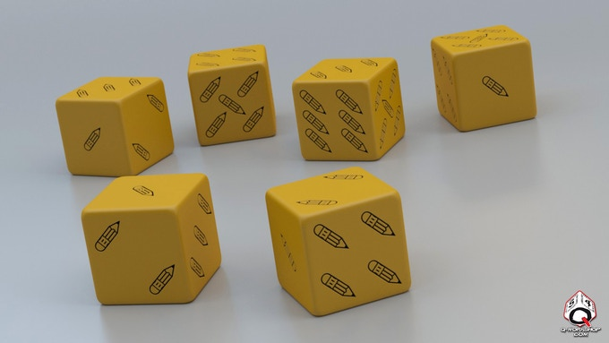 This is a rendering from Q-Workshop of the Pencil Dice