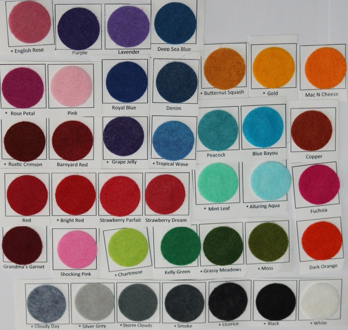 The felt is a high quality wool and rayon blend, not your everyday craft store felt.