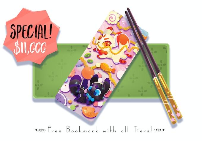 Woo, Unlocked! Every backer now gets the kitsune/otsune bookmark!!