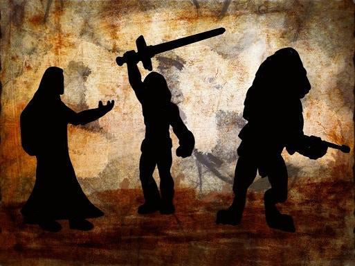 Techno-Barbarian and Companions.