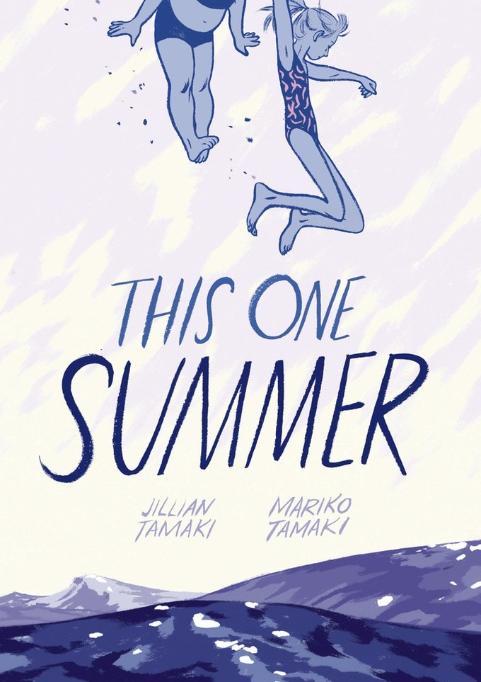 This One Summer by Jillian and Mariko Tamaki, one of the most frequently challenged graphic novels. (Used by permission of Scholastic, Inc.)