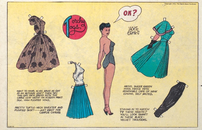 Torchy Togs paper dolls by Jackie Ormes. (Copyright Jackie Ormes.)
