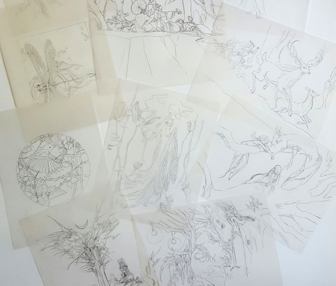 Example sketches. Visit http://descants.shadowscapes.com/sketches for more info