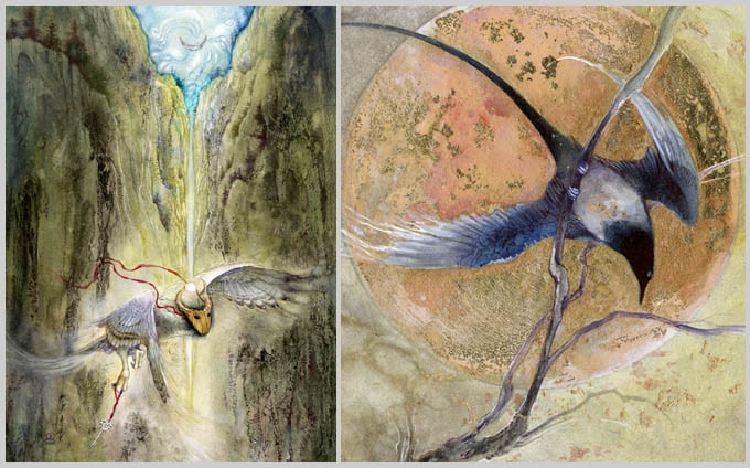 Example avian themed paintings