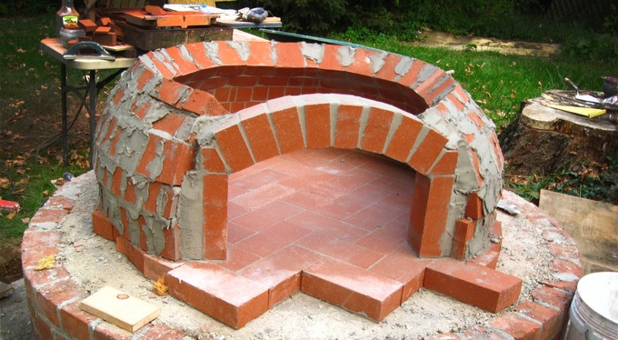 a traditional brick oven