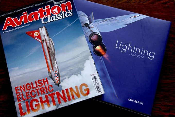 Ian's book and the original 'English Electric Lightning'. We've got our hands on the limited new edition for you