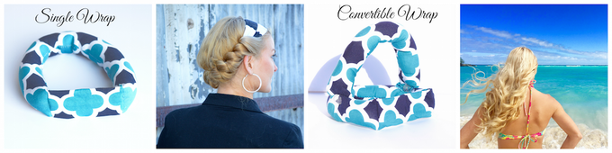 Savvy Curls Mega Glam Single and Convertible wraps will attend to your hair curling needs.