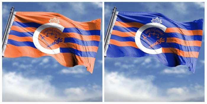 Unofficial, fan funded, and fan designed FC Cincinnati supporter flag. Voted for by the FCC fans on Twitter. Winner of 73% of all votes.