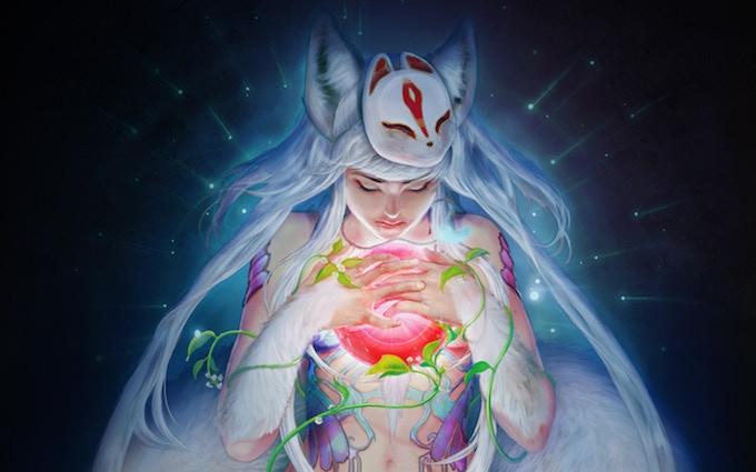 Inari - Japanese Goddess of Life by Makushiro