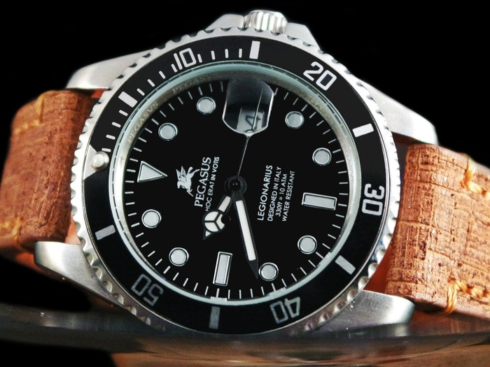 Pegasus venezia legionarius italian luxury homage watch by pegasus watches venezia kickstarter for Retail price watches