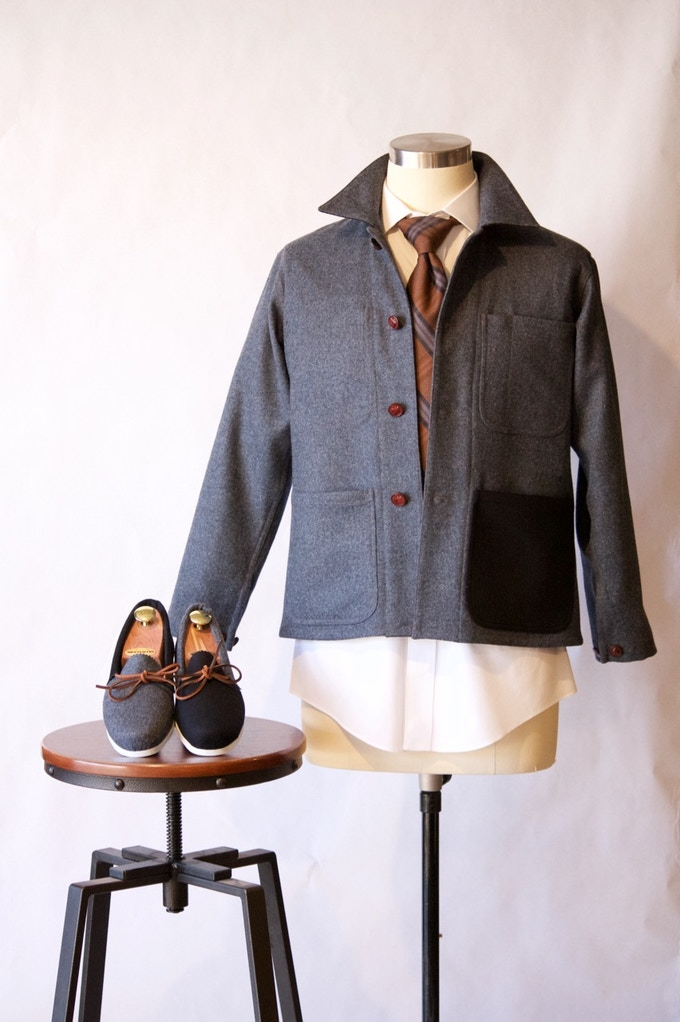Shop Jacket in Tweed and Cashmere