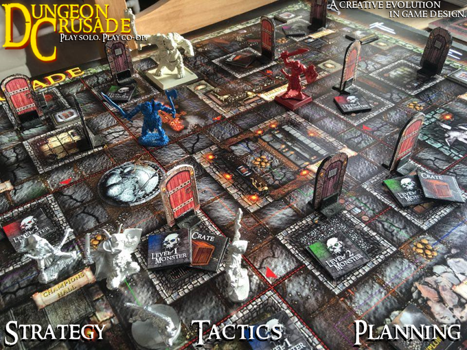 "Enjoy open world dungeon crawling in Dungeon Crusade! Experience the concept of a ""living dungeon"" with monsters who roam through out the dungeon, while the heroes are questing within it's depths."
