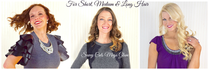 Savvy Curls produces glamorous curls for women with short, medium, long & extra long hair.