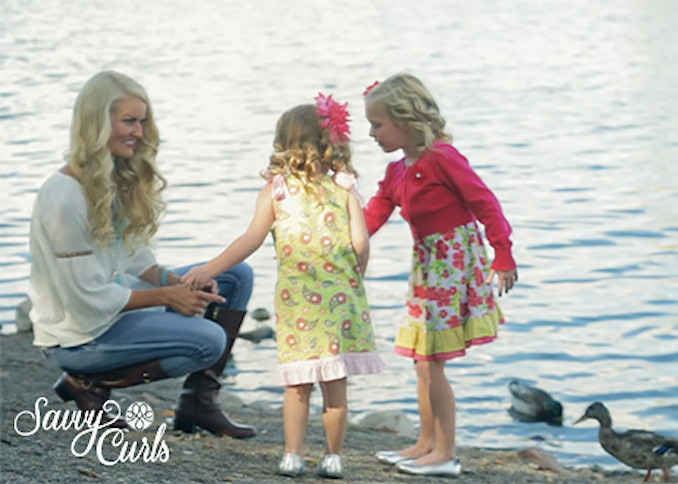 Savvy Curls hair wraps are great for women and children of all ages. Wrap your hair at night and then wake up in the morning and go!