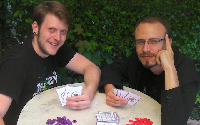 Color Warz authors presenting Paint Brawl prototype in 2010