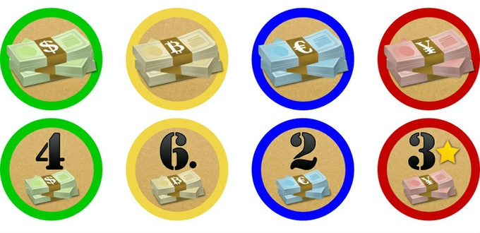 Updated token designs, which will replace the prototype tokens shown above.