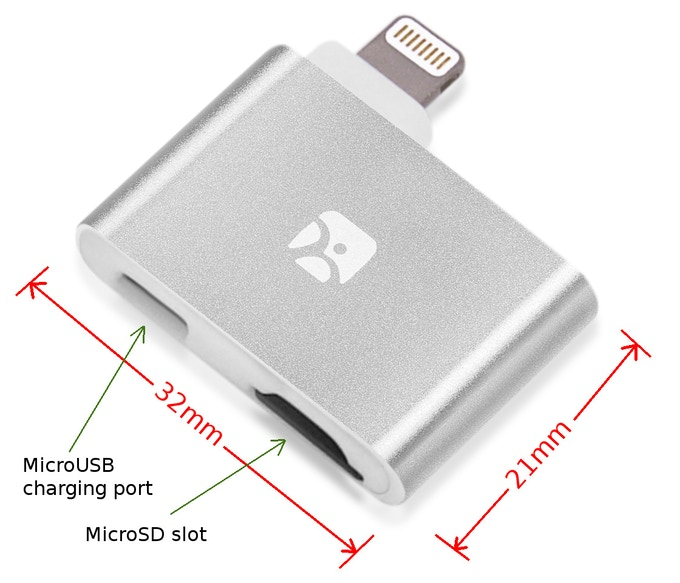 Dash-i Plus: still small, with the added benefit of concurrent charging via a MicroUSB charging port.