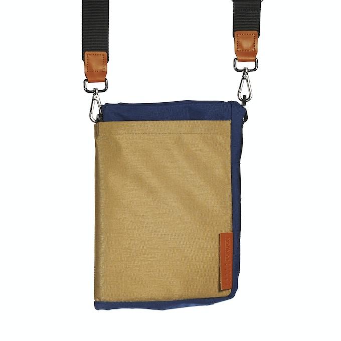 Blue Beige Ohyo Bag in Tablet Mode