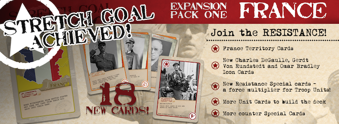 We did it! Thanks to you and extra 18 card expansion will be included with each pledge of $15 or more!