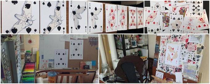 Studio work to complete the deck